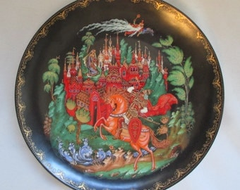 Vintage Russian Legends and Fairytales Series Collector Plate 'Ruslan & Ludmilla' c1988