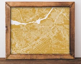 Riverside Map Riverside Art Riverside Map Art Riverside Print Riverside Printable Riverside City Art California Art
