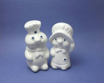 Pillsbury Doughboy and Doughgirl Salt and Pepper Shakers