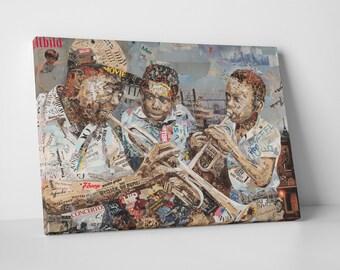 Ines Kouidis 'Blues Boys' Gallery Wrapped Canvas Print