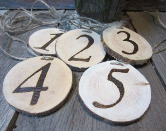 Table numbers, wedding table numbers, wedding numbers, wood numbers, mason jar numbers, centerpiece numbers, rustic table numbers, numbers