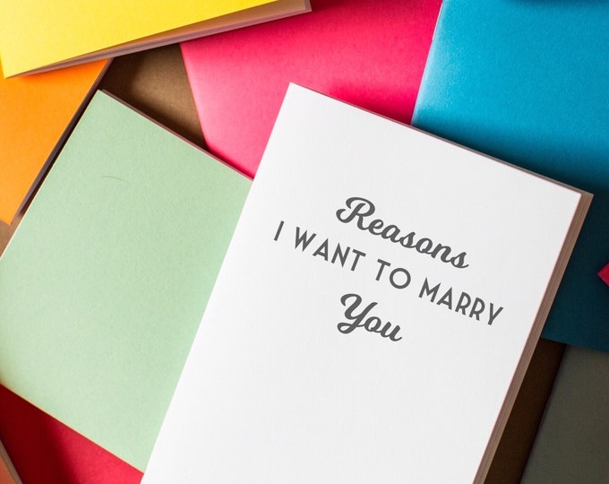 Marry You Notebook - Reasons i want to marry you mini notebook diary journal wedding favors mini notebooks wedding gift party favors
