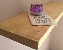 Floating Shelves, Wooden Shelves, Wall Shelf - Distressed - ** FREE UK DELIVERY **
