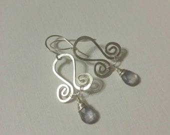 Iolite Swirl Earrings
