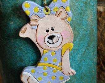 Teddy Bear ornament bear ornament kappa delta ornament alpha chi delta ornament BetXi bear ornament Bear Christmas ornament