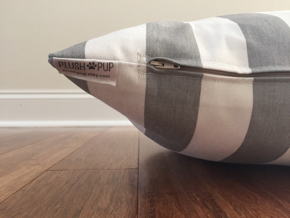 Stripes Dog Bed Cover Nautical Dog Bed Cover Gray By Plushpup