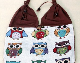 Shopping bag - owl - 4343