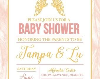 Angel Baby Shower Invitation