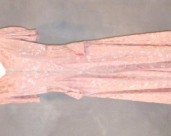 Vintage Evening Gown, Pink/Peach