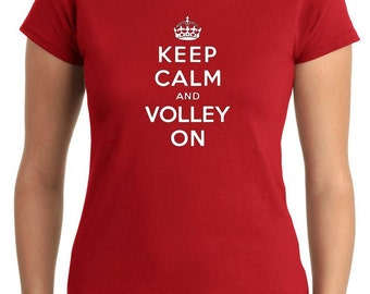 T-shirt Woman OLDENG00765 keep calm and volley on