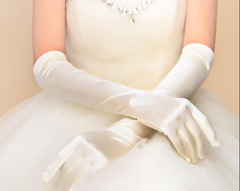 High Quanlity handmade white gloves Ivory glove wedding gloves Bridal gloves lace gloves off white long gloves