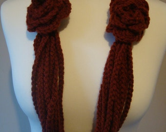 Scarf Crochet Chain Scarf Infinity Scarf Crochet Necklace Bulky Accessory UK