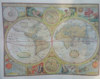 A new and accurate map of the world 1651 - hammond print