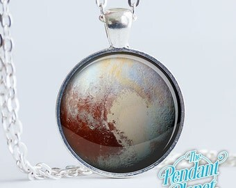 Planet necklace, Pluto, solar system jewelry, celestial jewelry, astronomy gift, gift for husband, gift for him, gift for her