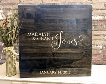 Wedding Guest Book Alternative, Wooden Guest Book Sign
