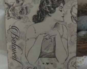 Beautiful Mon Amour bookmark ..romantic