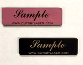 Faux leather personalized tags