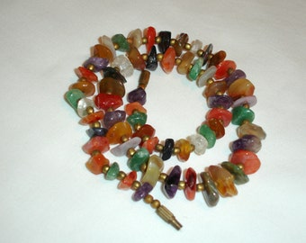 Vintage Colored Stones Necklace