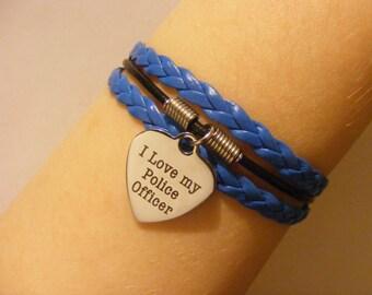Police bracelet, police jewelry, police wife bracelet, police wife jewelry, officer bracelet, officer jewelry, fashion bracelet