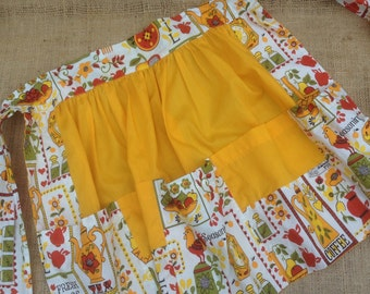 Hostess Apron Vintage Yellow