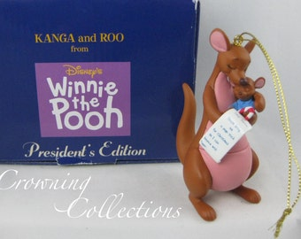 Grolier Kanga and Roo Disney Ornament President's Edition Scholastic Winnie the Pooh Christmas Letter to Santa Vintage RARE