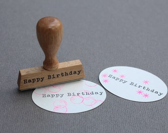 Stamp Happy Birthday- Typo 5 Happy Birthday