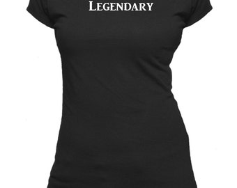 Legendary. One Word. Ladies fitted t-shirt.