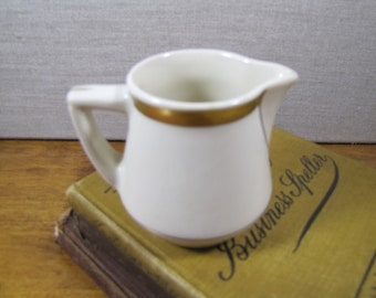 Syracuse China - Old Ivory - Small Creamer - Creamy White - Gold Accent