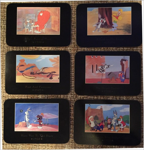 Full set of 6 1993 looney tunes classic cartoon hard for Classic hard house tunes