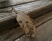 Natural Smoky Citrine Point Wire Wrapped Necklace