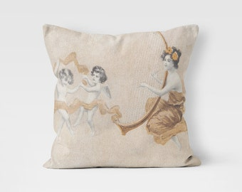 Decorative Pillow, Angel Pillow Case, Designer Throw Pillow, Cushion Cover, Luxury Cushion, PillowCase, Pillow Couch, Angels PillowCase