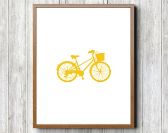 Yellow Bike 8 x 10 Printable
