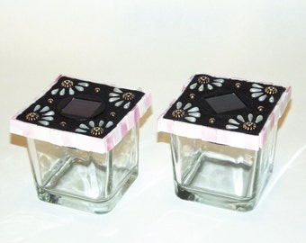 Pink Pearls solar lights - Set of 2
