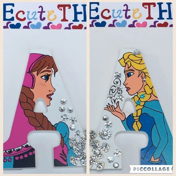 Frozen Monogram Letters, Frozen Letters,Elsa Monogram Letters, Monogram Letters, Elsa Letters, Wood Letters, Girl Room Decor