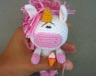 Little Crochet Unicorn. Amigurumi