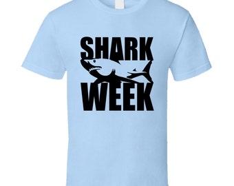 Shark Week Fun Popular Tv Show Graphic T Shirt