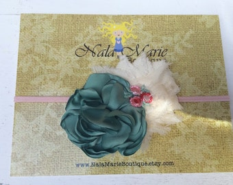 Ivory and Sage Green Headband