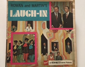 Laugh-In - Rowan and Martin's - ViewMaster 3 Reel Packet / Vintage View Master / View Master Reel / Rowan And Martin / Laugh In /