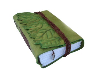journal green with leaves