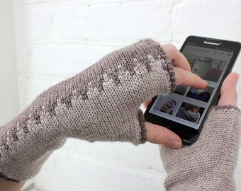 Knit Arm Warmers, Fingerless Gloves Valentine's Day Gift, Wool knitted Mittens, Christmas Gift winter Accessories, gift idea for her and him