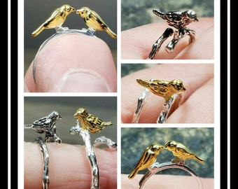 Sterling Silver Bird Rings/ Bird Ring/ Nature Ring