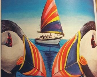 Nautical Puffins
