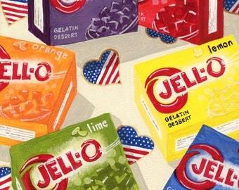 Jello Ribbon Salad Print