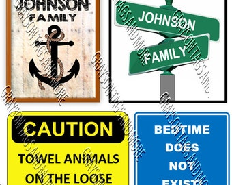 NEW!!  6 Cruise Signs Door Magnets - Group J