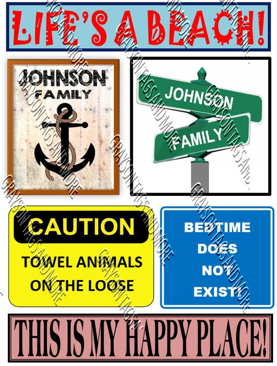 6 Cruise Signs Door Magnets Group J