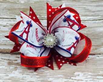 Los Angeles Angels Inspired Hair Bow