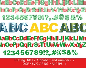 Chevron Letters Cutting Files / svg, dxf, ai, eps, png / Chevron Alphabet Cut Files / Letters cut files / Alphabet for silhouette