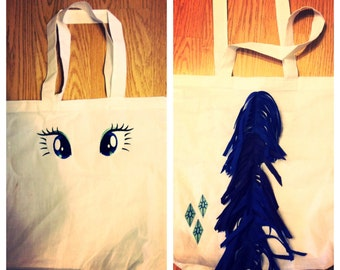 my little pony inspired rarity tote bag