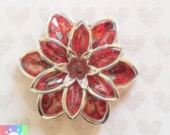 Cranberry Watercolor XL Flower Cabochons- 1 pcs 55mm
