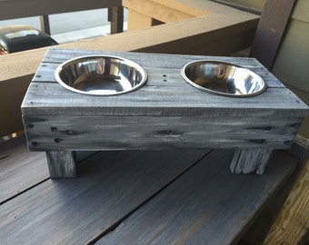 Hand Crafted Small Dog Feeder